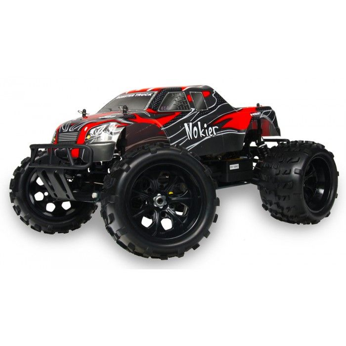 HSP 1/8th Scale 4WD Off Road Nitro Monster RC Truck 2.4G - Black / Red