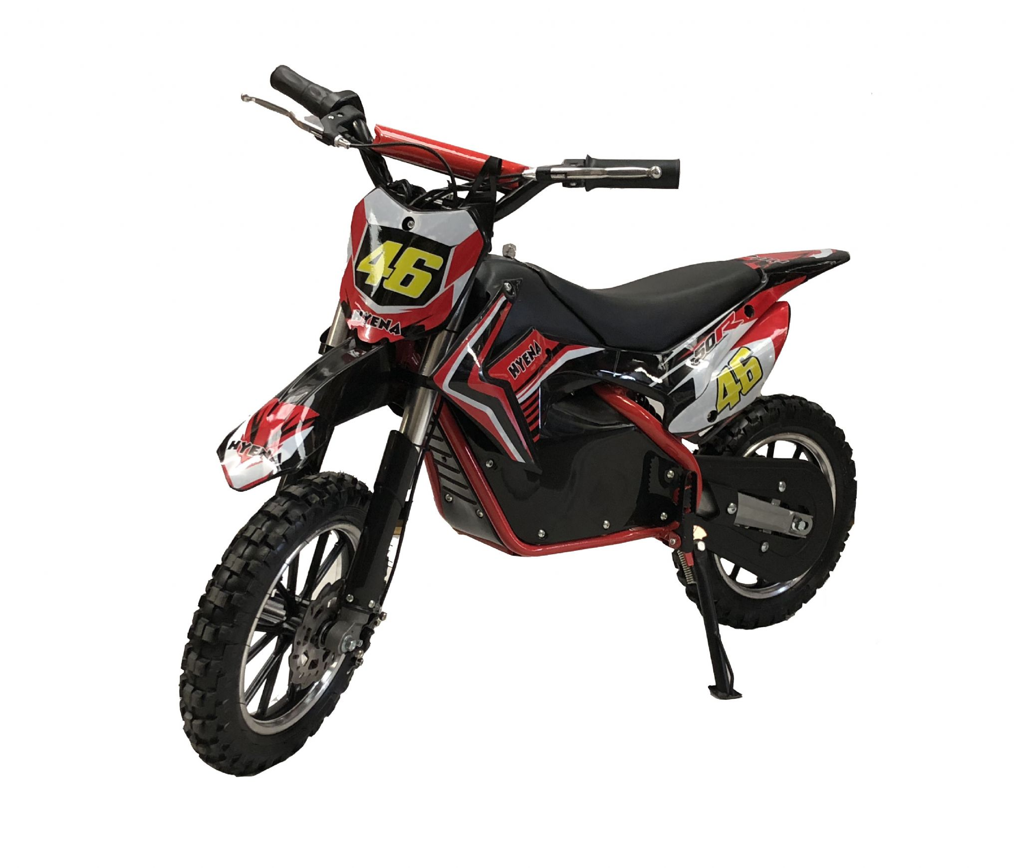 Hyena Pro 500w 36v Lithium Electric Dirtbike Red